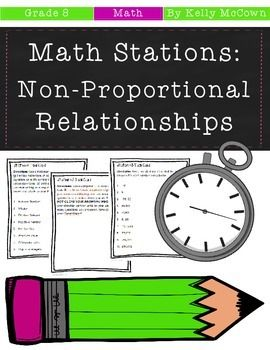 Middle school math stations non proportional relationships grade middle school math stations non proportional relationships grade 8 math pinterest equation math and activities fandeluxe Images