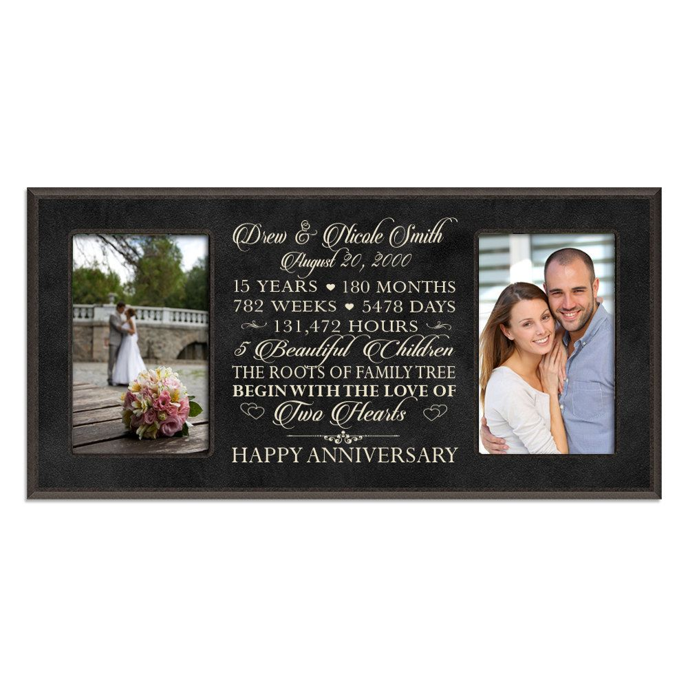 Personalized 15th anniversary gift for him,15 year wedding ...