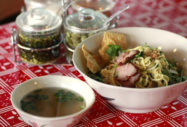 """Sen Yai - Eat - Thrillist Portland """"Offering more Thai street style than the team that almost pulled an upset in that one Step Up movie, the dude behind Pok Pok continues his Division St domination w/ Sen Yai, an old-school noodle house serving up three squares a day."""""""