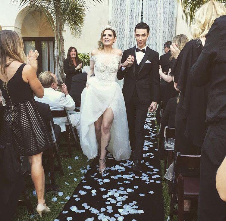 Andy Biersack & Juliet Simms Biersack Wedding Juliet In ...  |Andy Sixx Dress