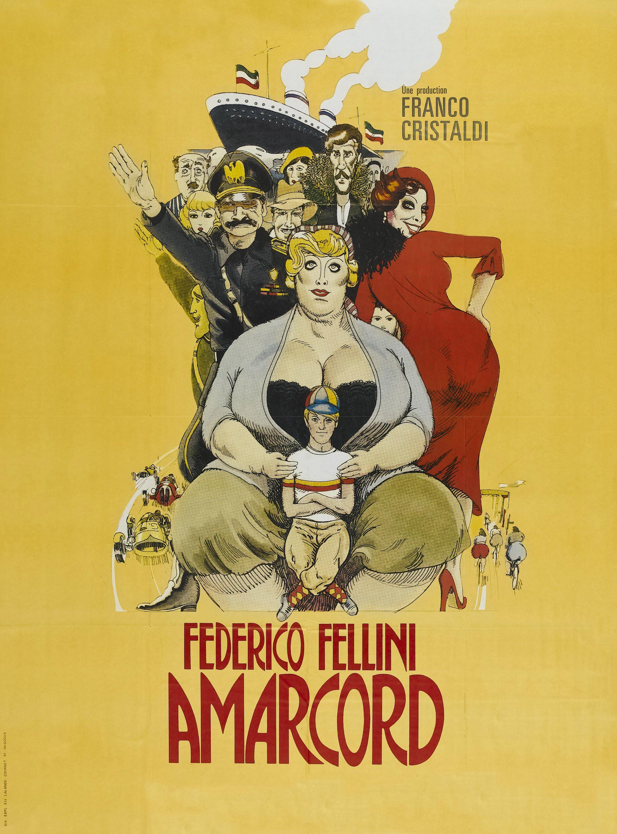 Amarcord Federico Fellini 1973 Cinema Film Classici Locandine Di Film