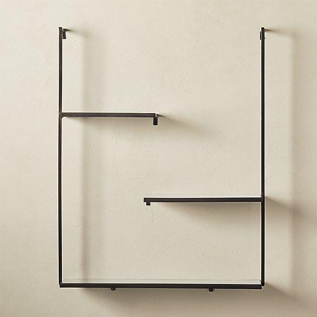 Spirit Gunmetal Floating Ladder Shelf In 2020 Shelves Home