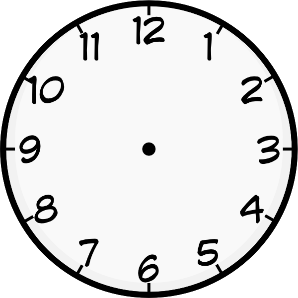 Clock Template Printable
