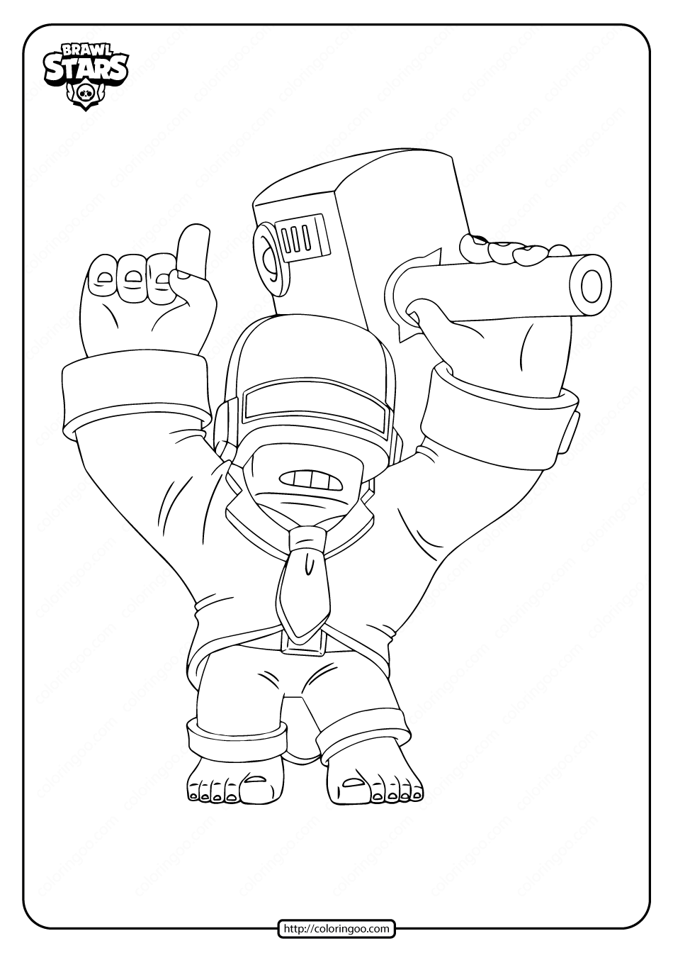 Printable Brawl Stars Dj Frank Coloring Pages Star Coloring Pages Coloring Pages Stars
