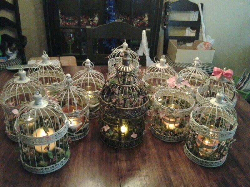 Diy Birdcage Centerpieces For Wedding Created For Amandas Wedding