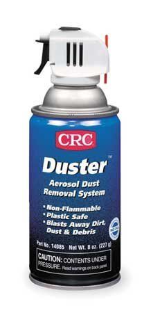 CRC 14085 Aerosol,12 Oz,Net 8 Oz by CRC. $15.76. Aerosol Dust Removal System, Container Size 12 Ounces, Net Weight 8 Ounces, Removes Dirt and Dust in Hard to Reach Areas