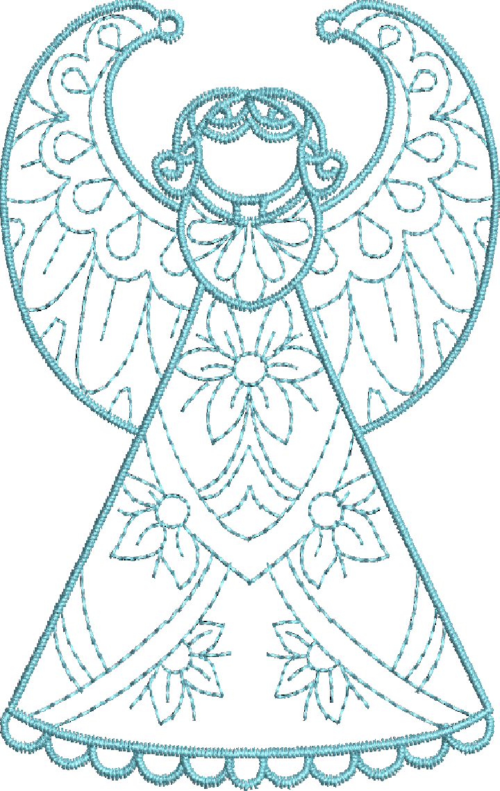 Crystal Angels - Machine Embroidery Designs at Splinters & Threads ...