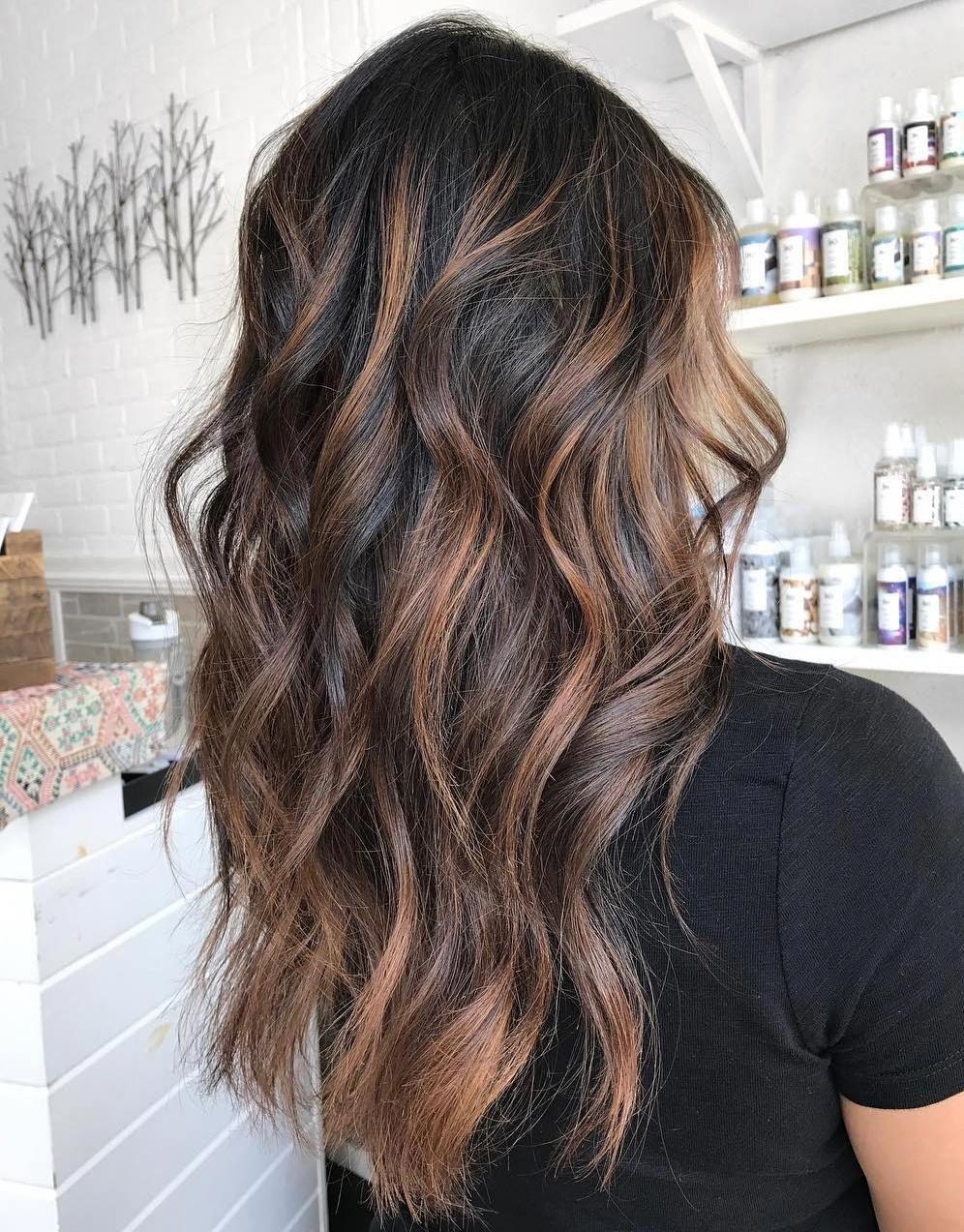 Roasted Almond Highlights Haircolor Brown Hair With Highlights Hair Highlights Cool Brown Hair