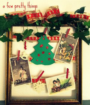 Christmas frame art christmas frames diy christmas and decoration we love holiday ribbon especially when its paired with a gilded wooden frame try this combination out for yourself when you make this christmas frame art solutioingenieria Gallery
