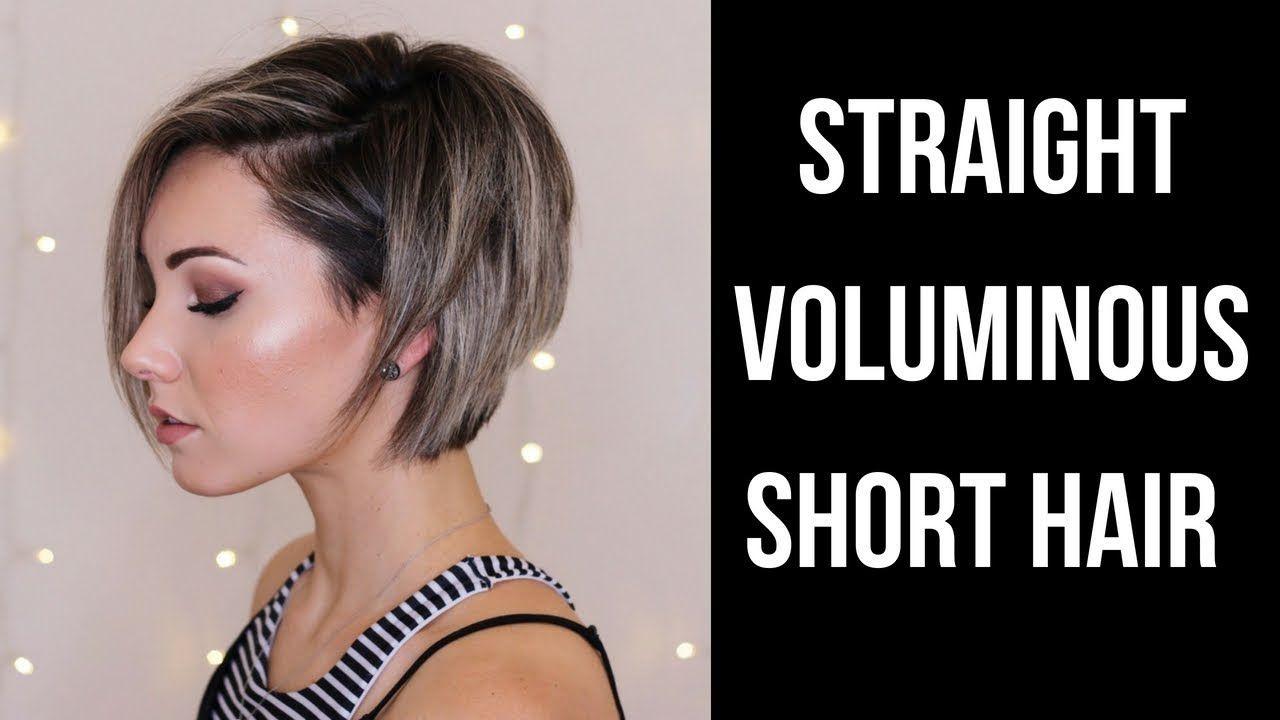 Straight Voluminous Short Hair Tutorial Youtube Short Hair Styles Short Hair Tutorial Frizzy Hair Problems