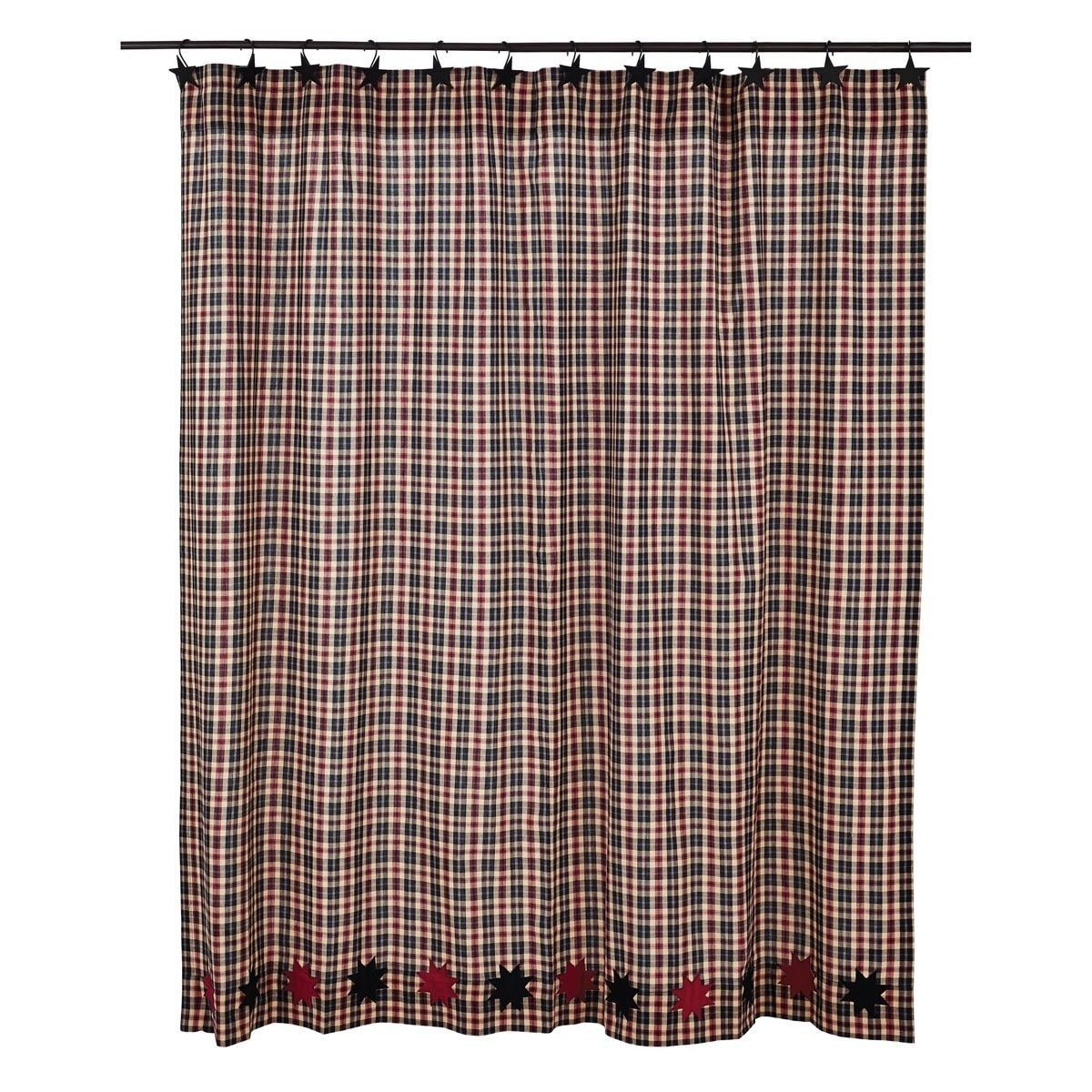 VHC Brands Carson Star Shower Curtain