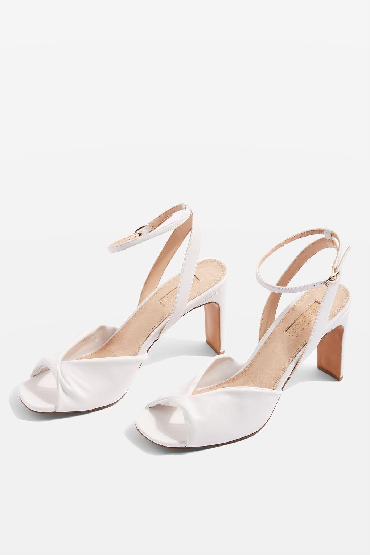 600a2e034000c7 Raven Knot Skinny Heel Sandals - Heels - Shoes