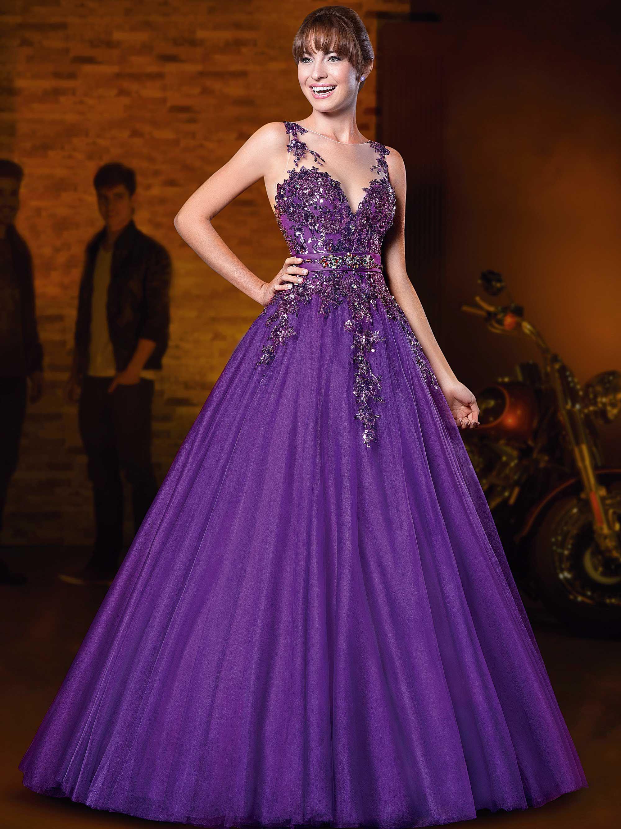 81e4cc5af Vestidos de 15 anos Festa Roxa, Vestido De Festa Roxo, Vestido Lilás,  Vestido