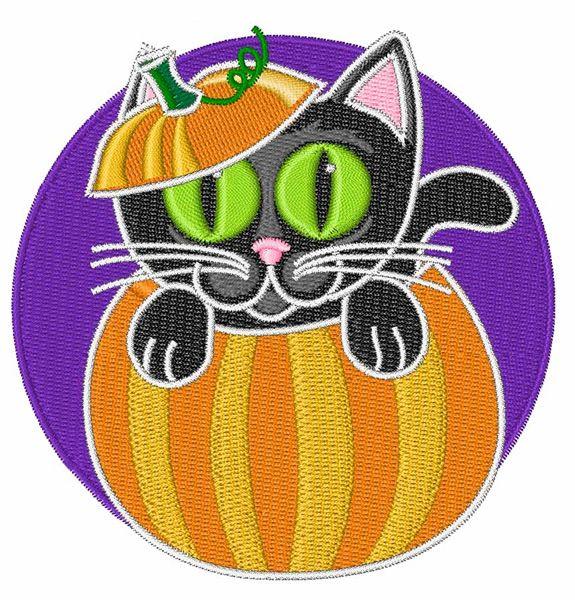 Free Halloween Black Cat Embroidery Design Annthegran Free