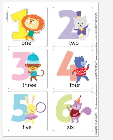 Persnickety image inside free printable number flashcards