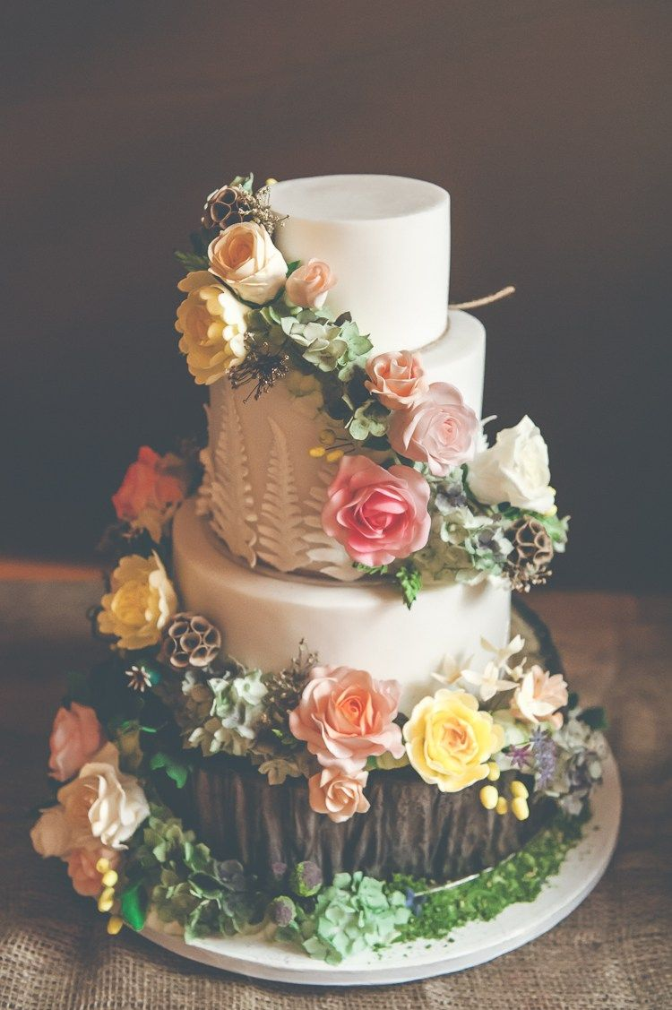 Quirky Natural Fun Woodland Wedding Wedding Cake Pinterest