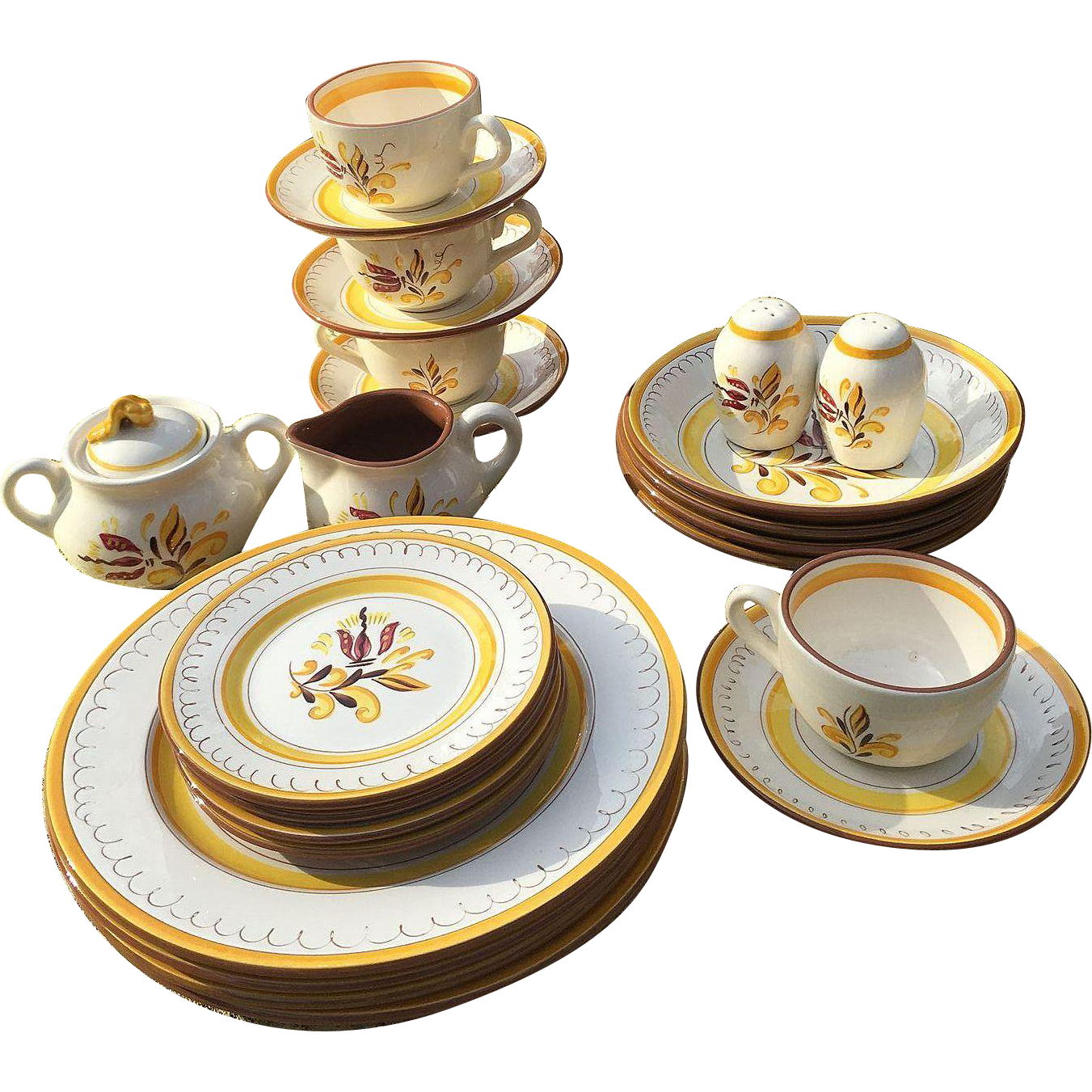 Stangl Pottery Provincial Dinnerware Set  sc 1 st  Pinterest & Stangl Pottery Provincial Dinnerware Set | Dinnerware Pottery and ...