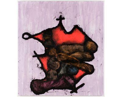 Charline von Heyl, Igitur, 2008. Acrylic on linen 82 x 74 in. The Museum of Modern Art, New York. Enid A. Haupt Fund, 2010.