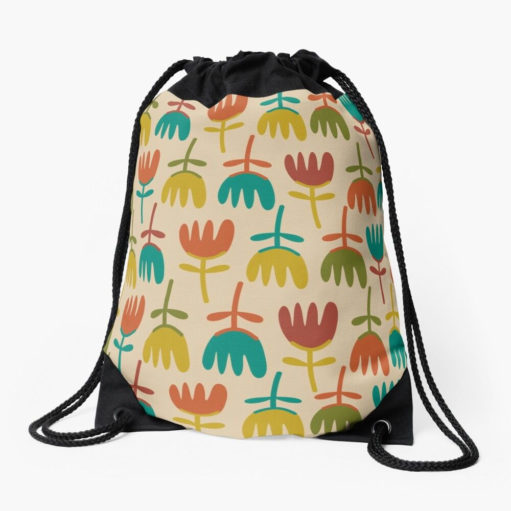 Drawstring Backpack Lizards Pattern Bags