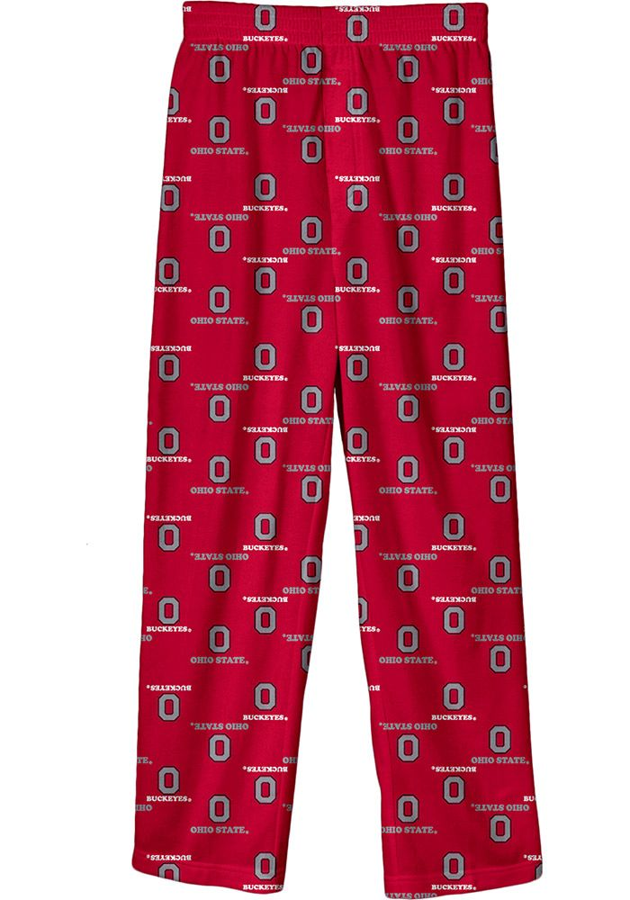 Ohio State Buckeyes Youth Red All Over Sleep Pants - 13344389
