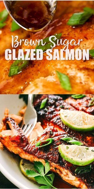 Brown Sugar Glazed Salmon | Easy Pan Seared Salmon Recipe