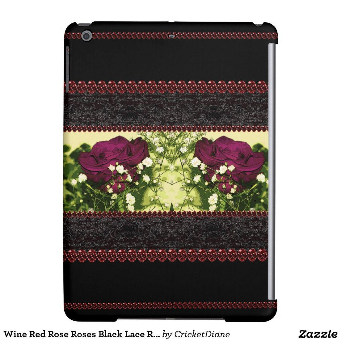 cd2a3bca1fe Wine Red Rose Roses Black Lace Romantic Goth Case For iPad Air. Find this  Pin and more on Goth Steampunk Victorian Gothic Cosplay ...