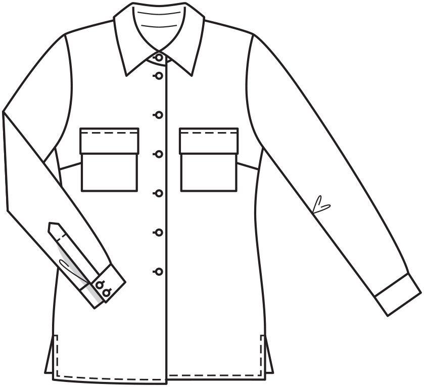 eb9a7cc03d8 Блузка-рубашка - выкройка № 129 из журнала 11 2015 Burda – выкройки блузок