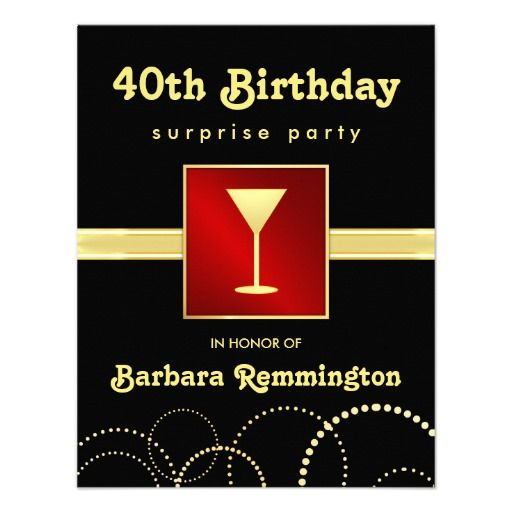 >>>Are you looking for          Surprise 40th Birthday Red Black Gold Invitations           Surprise 40th Birthday Red Black Gold Invitations in each seller & make purchase online for cheap. Choose the best price and best promotion as you thing Secure Checkout you can trust Buy bestReview    ...Cleck Hot Deals >>> http://www.zazzle.com/surprise_40th_birthday_red_black_gold_invitations-161672749398694062?rf=238627982471231924&zbar=1&tc=terrest