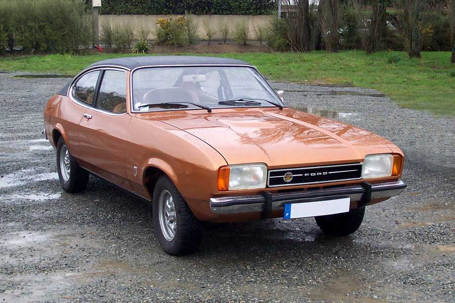 Souvent I loved driving my Ford Capri 2.0l. Brown with Vinyl roof  OD97