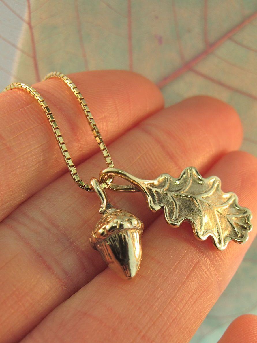 Oak leaf necklace jewelry green crystal bead necklace antique bronze brass oak leaf pendant victorian style