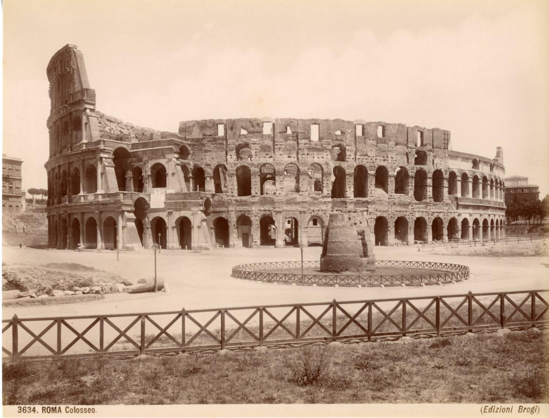 Colosseo Vintage albumen print Tirage albuminé 20x25 Circa 1875