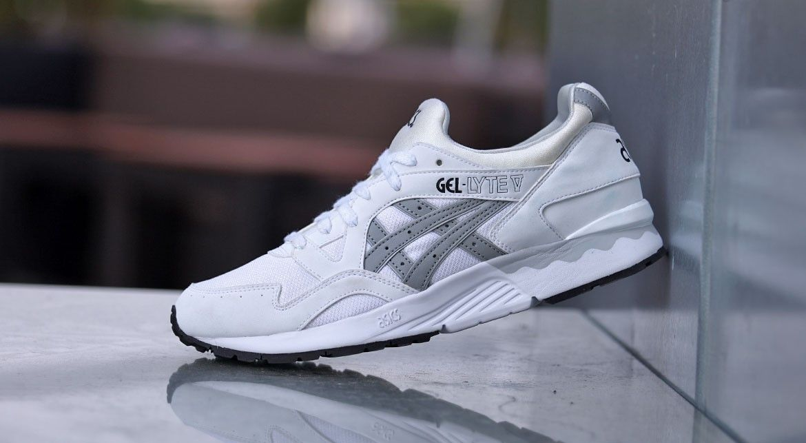 asics gel lyte v white/light grey