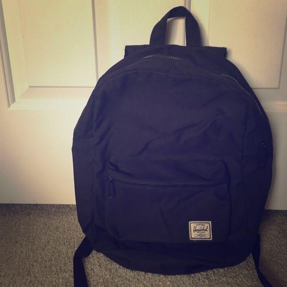 Black Girl's Herschel Backpack Herschel Backpack Black. Only used a few times. Has a pocket for laptop Herschel Supply Company Bags Backpacks