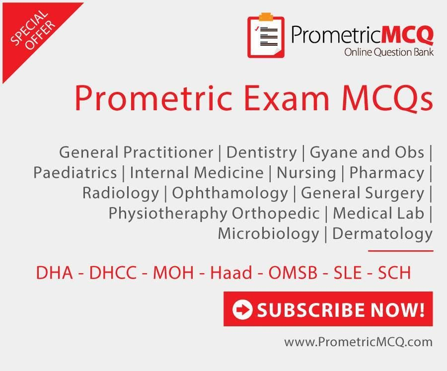 Prometric Exam MCQs, Review Questions for DHA Exam, Haad