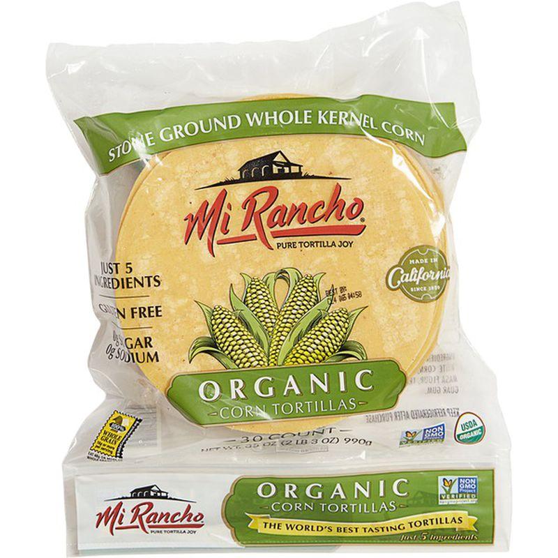 Mi Rancho Yellow Organic Corn Tortillas 30 Ct Instacart Corn Tortillas Organic Corn Organic Corn Tortillas