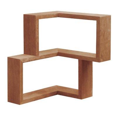Tronk Design Franklin Wall Shelf Finish Cherry In 2020 Wood Corner Shelves Shelves Wood Wall Shelf