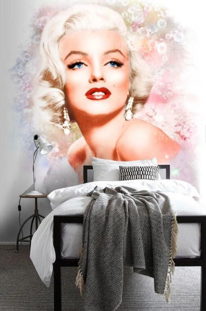3d Hand Painted Marilyn Monroe Wallpaper Removable Self Etsy Marilyn Monroe Wallpaper Marilyn Monroe Decor Marilyn Monroe Poster