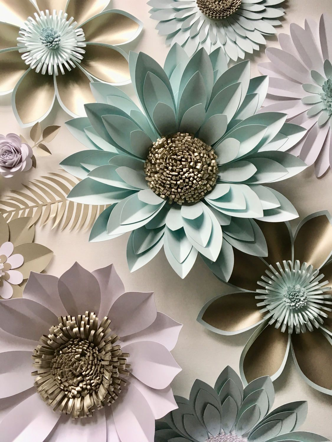 Giant paper flower backdrop, 3d wall decoration or