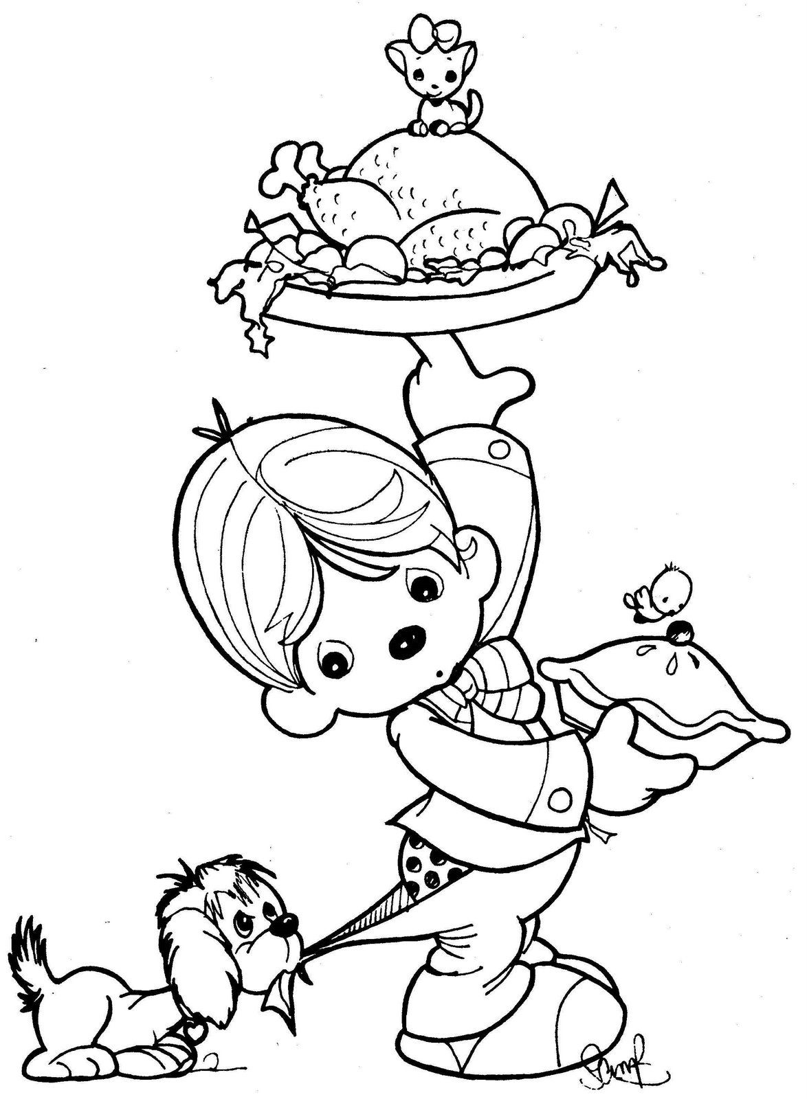 Precious Moments Bible Coloring Pages | Precious Moments waiter ...