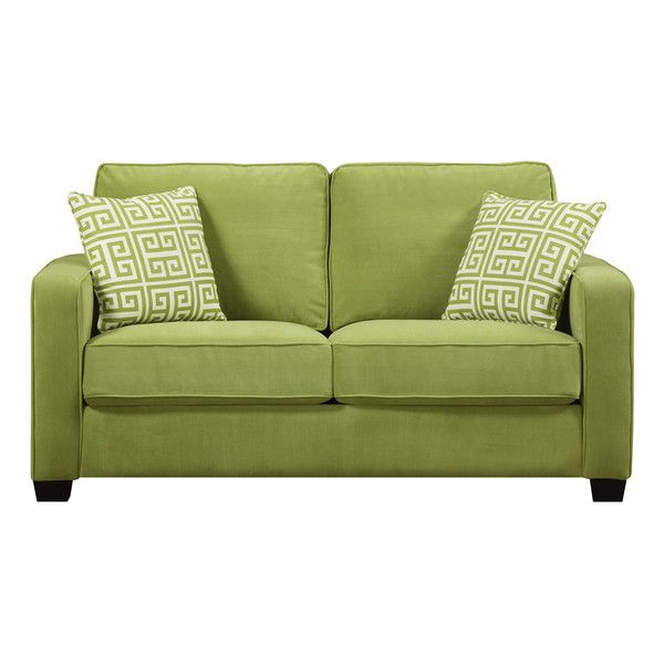 Make Your Living Room The Definitive Place To Stay With This Modern Looking  Sofa Made In Spring Green Velvet Fabric. It Additionally Includes A Couple  Of ...