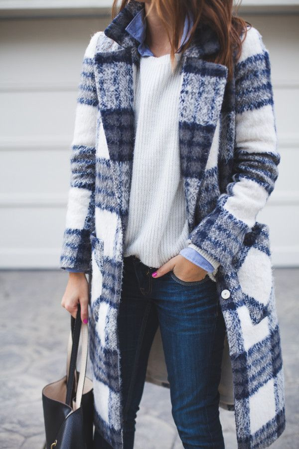 a838e3c4a78 fluffy plaid coatWinter outfits you can copy right now