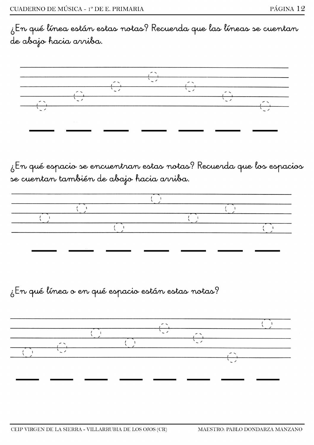 worksheet Solfege Worksheets cuadernillo de lenguaje musical 1ao a music education a