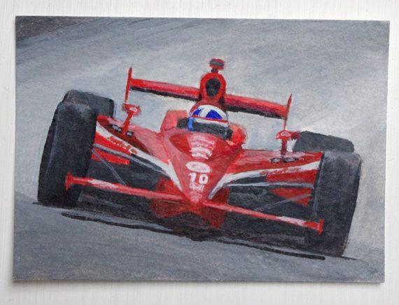 Motorsport Art Dario Franchitti Original ACEO by SamsArtyStuff, £5.00
