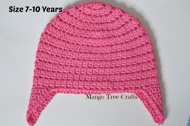 Basic Crochet Ear Flap Hat Pattern in 7 Sizes
