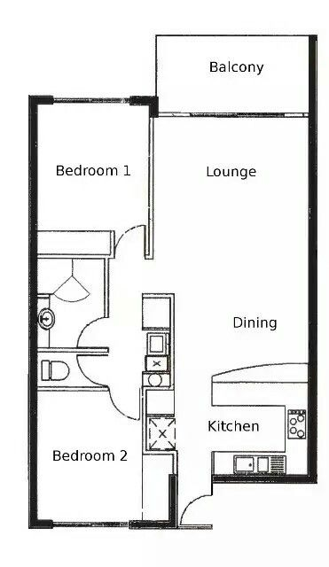Pin Van Rautiki Op Two Bedroom Floorplans Plattegrond Design Beautiful