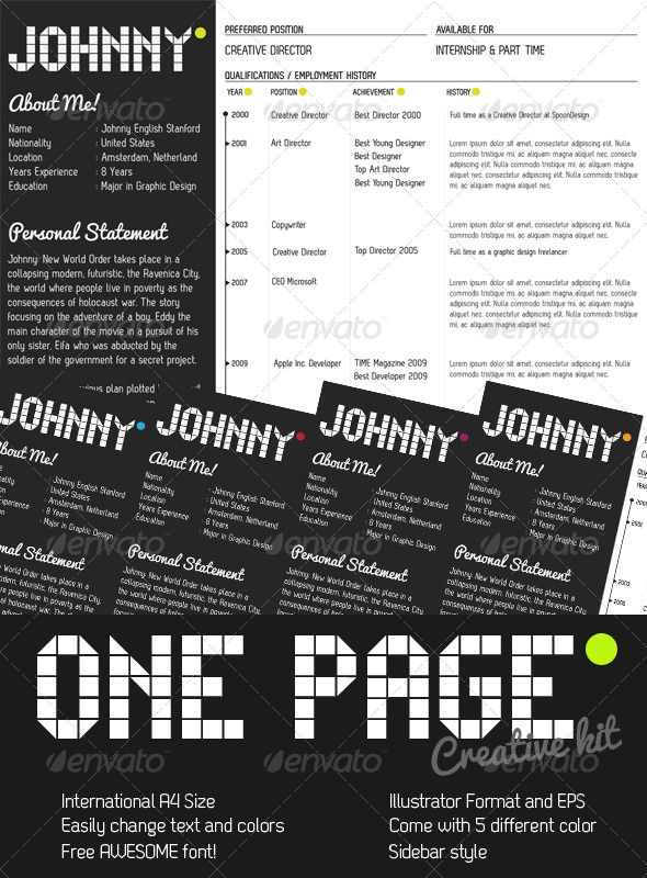78+ Images About 80 Personal Resume Inspiration On Pinterest