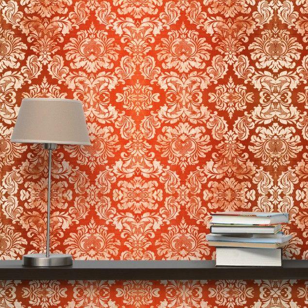 Vliestapete - #Barocktapete - Fototapete Quadrat #Vliestapete - tapeten wohnzimmer rot