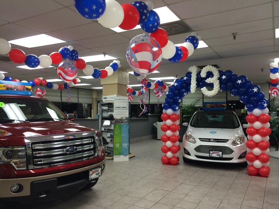 Patriotic car dealership decor Car dealership decor