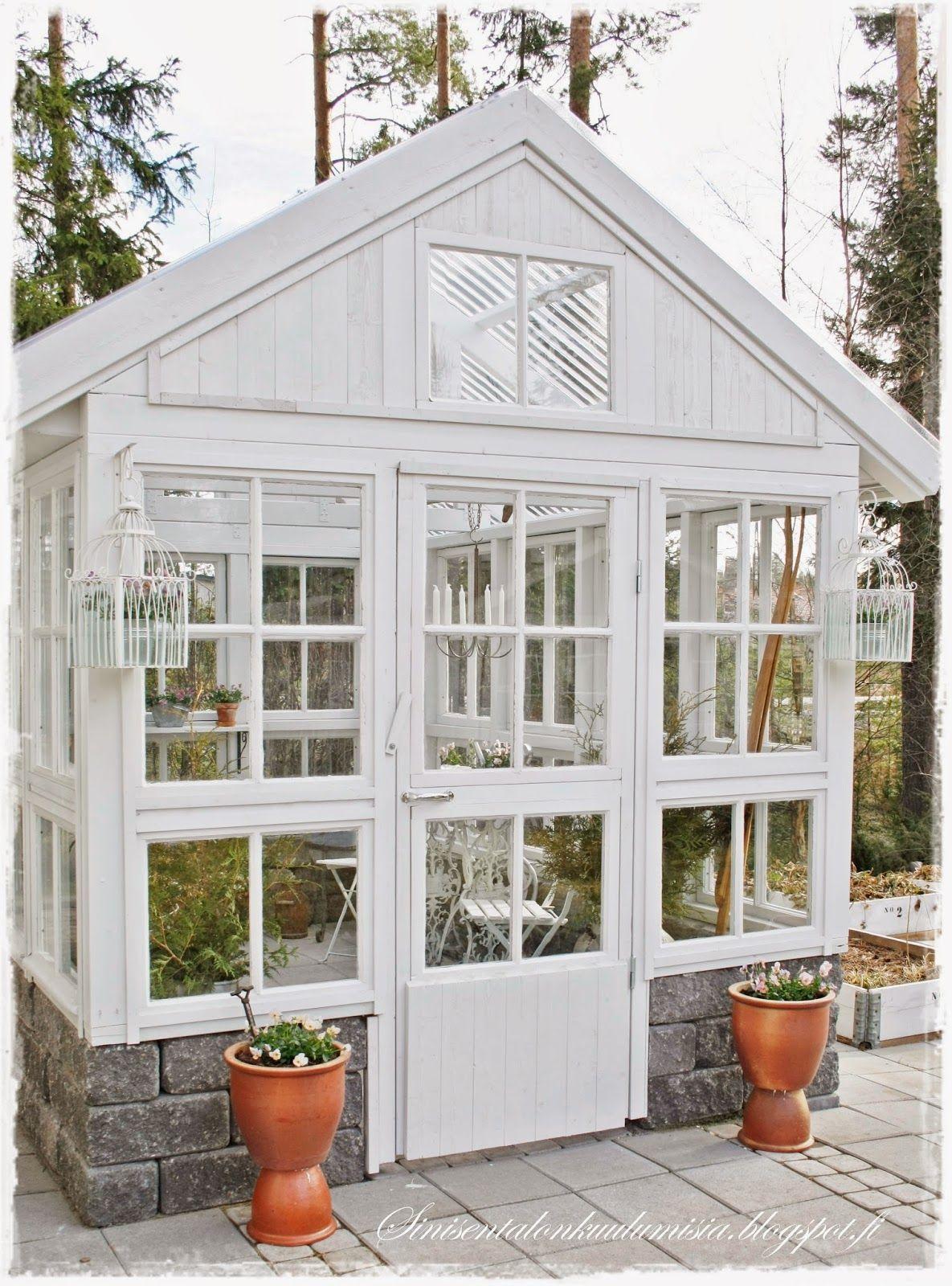 Kasvihuone Rumah Hijau Halaman Belakang Rumah Dan Kebun