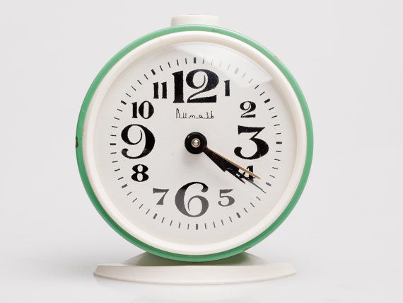 Vintage Alarm Clock made by Soviets. USSR made by OldSchoolKitsch